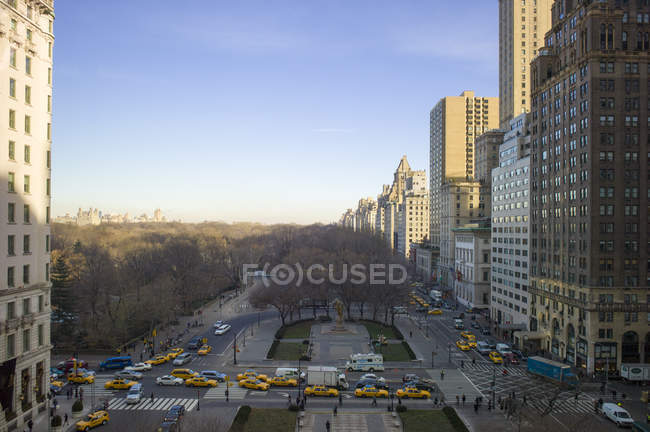 USA, New York, Manhattan, view to Central Park in winter — Stock Photo