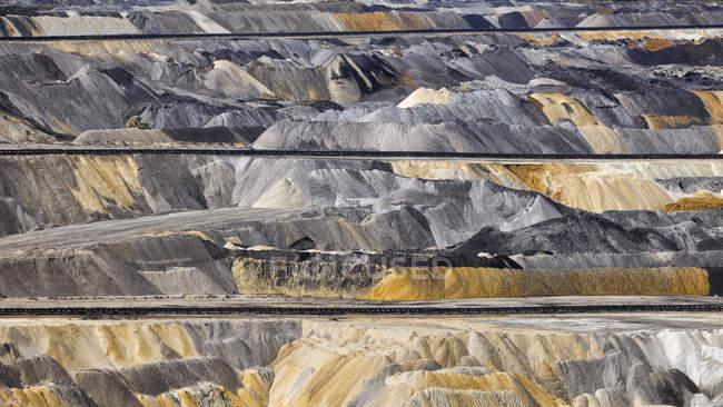 Deutschland, Nordrhein-Westfalen, Inden Oberflächen-mine, überlasten — Stockfoto
