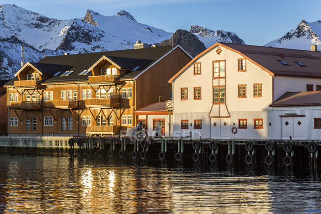 Scandinavie, Norvège, îles Lofoten, port de Kabelvag pendant dayitme — Photo de stock