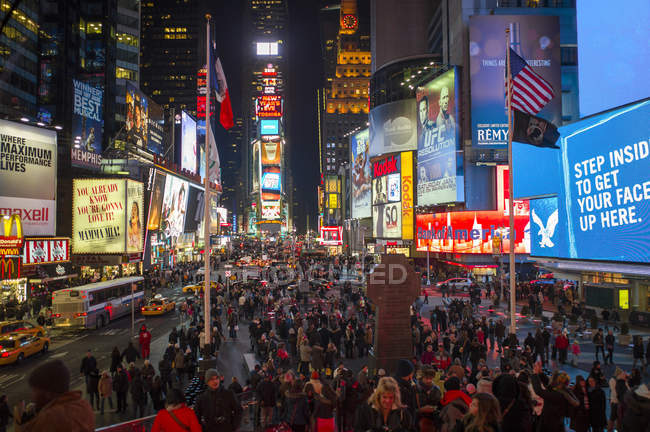 USA, New York, Manhattan, vue de Times Square de nuit — Photo de stock