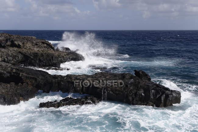 Spanien, Kanarische Inseln, La Palma, vulkanischen Küste bei Fuencaliente tagsüber — Stockfoto