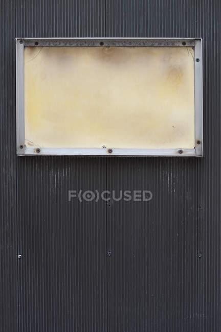 Порожній кадр на чорний мелений — стокове фото