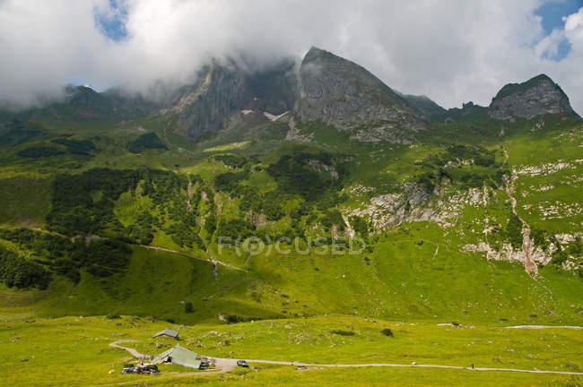 Alemanha, Bavaria, Allgaeu, Alpes Allgaeu, leste do Hoefats — Fotografia de Stock