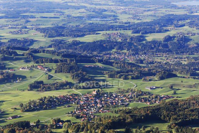 Deutschland, Bayern, Chiemgau, Blick vom Hochries, Grainbach — Stockfoto