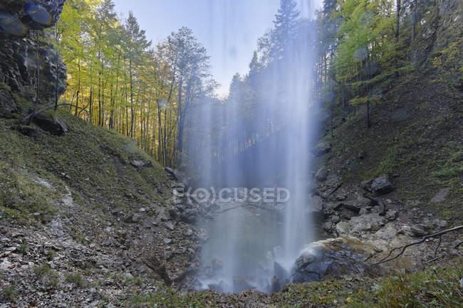 Germany, Chiemgau, Schossrinn waterfalls scenic natural landscape — Stock Photo