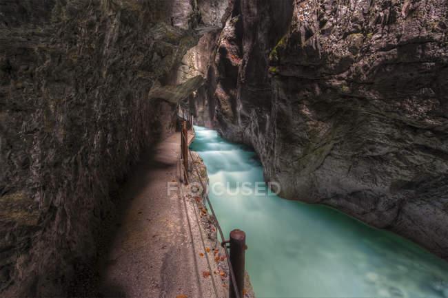 Germany, Bavaria, Partnach Gorge near Garmisch-Partenkirchen — Stock Photo