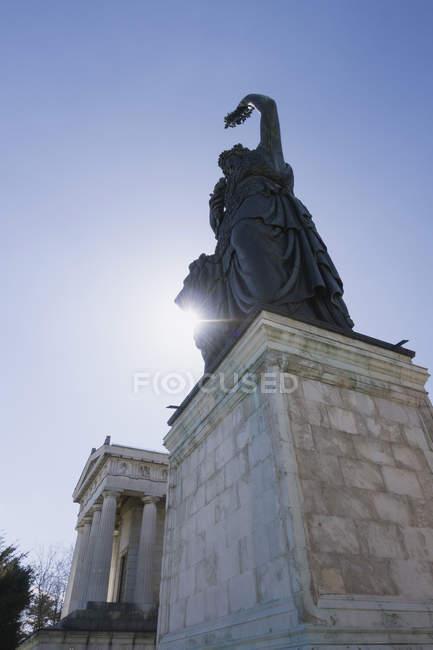 Німеччина, Баварія, Мюнхен, перегляд Баварії статуя денний час — стокове фото