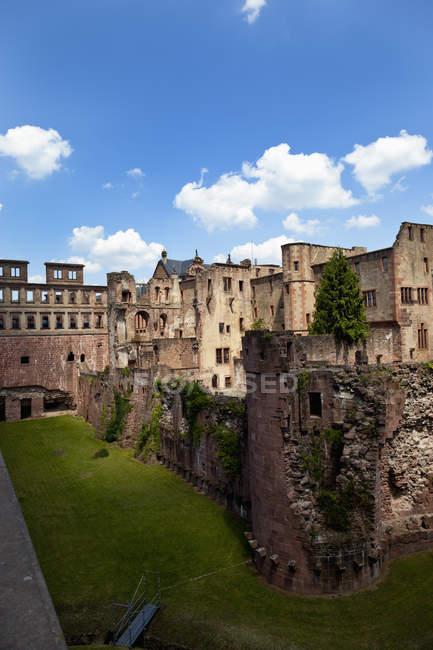 Німеччина, Баден Вюртемберг, Гейдельберзі, перегляд Гейдельберг замок — стокове фото