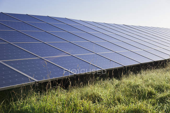 View of solar panels to generate electricity, Germany — Stock Photo