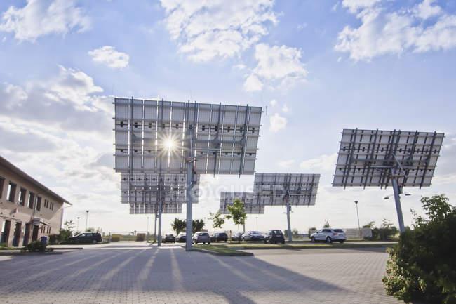 View of solar panels — Stock Photo