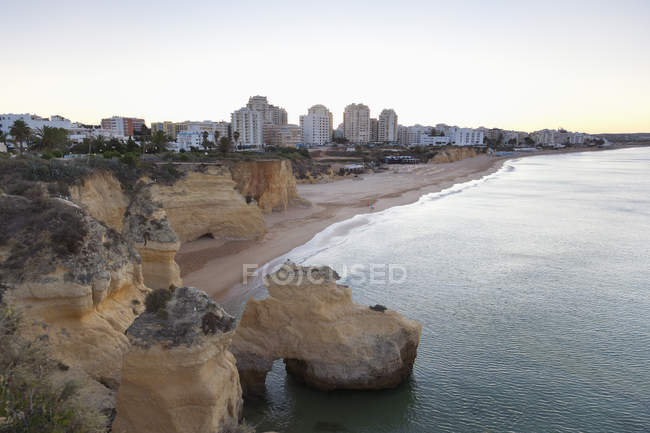 Portugal, aerial View de Armacao de Pera costa — Fotografia de Stock