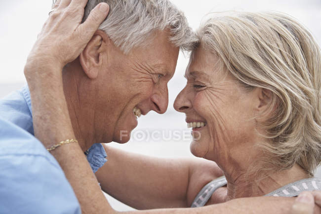 Senior couple looking at each other — Stock Photo