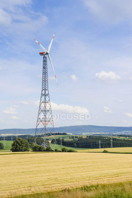 Wind wheel in wind park — Stock Photo