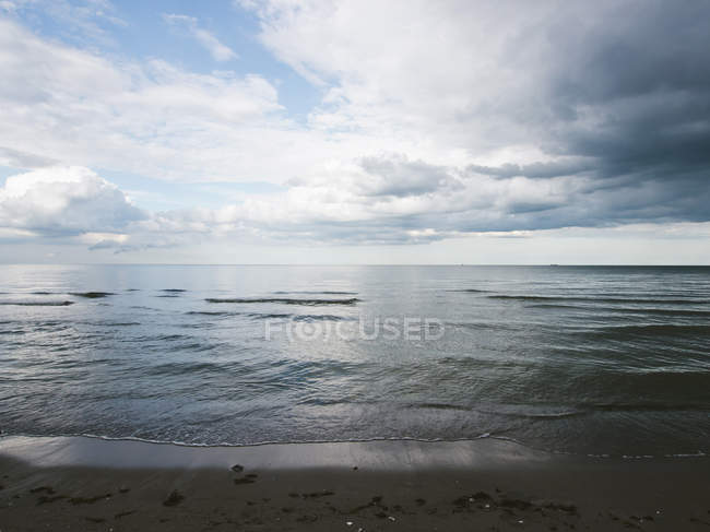 Germany, View of cloudy sky over Baltic Sea at Rugen Island — Stock Photo