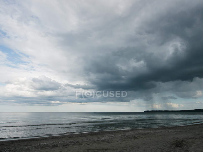 View of cloudy sky over Baltic Sea at Rugen Island — Stock Photo