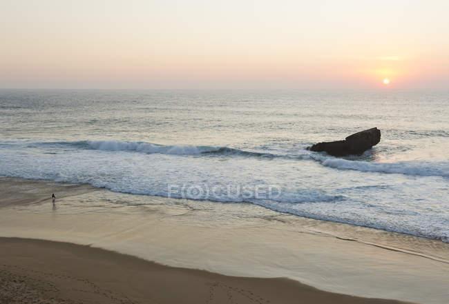 Закат на Атлантическом побережье — стоковое фото
