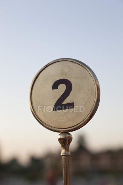Египет, номер таблицы в Асуане на размытие фона — стоковое фото