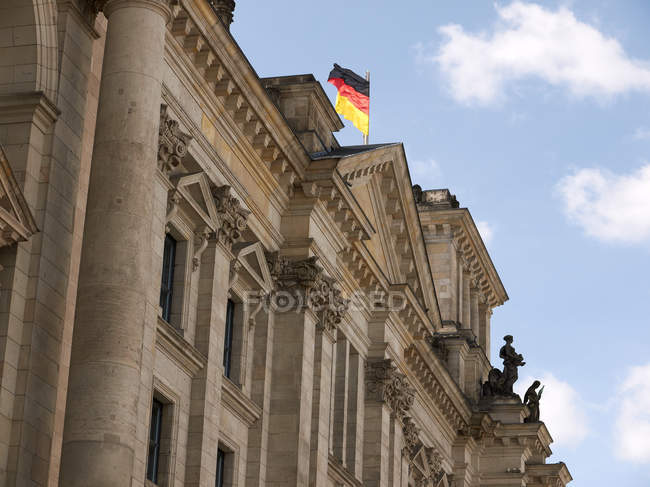 Deutschland, Berlin, Ansicht des Reichstagsgebäudes — Stockfoto