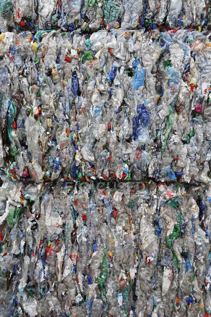 Close-up of Recycling of plastic garbage — Stock Photo