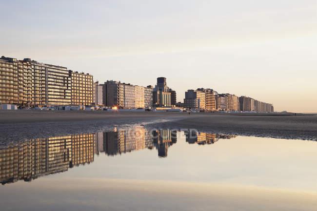 Vue de la tour de la mer du Nord, Blankenberge, Belgique — Photo de stock