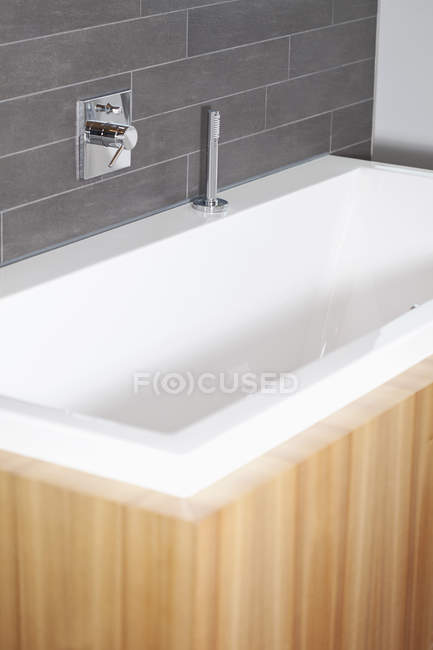 Close-up of modern Bathroom with bathing tub — Stock Photo