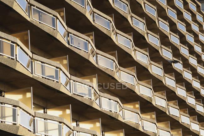 Бельгія, Mariakerke, балконів сучасних висотних — стокове фото