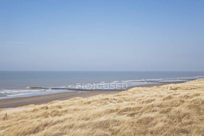 Bélgica, vista do mar do Norte no dia — Fotografia de Stock