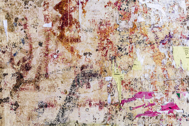 View of Crumbled hoarding, close up — Stock Photo