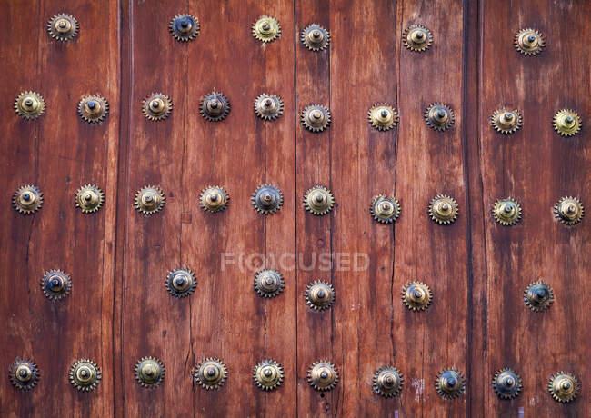 Вид на дверь Вуден, крупным планом — стоковое фото