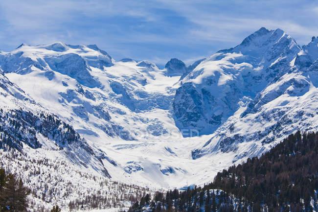 Morteratsch Glacier, Bernina Range, Grisons, Switzerland — Stock Photo