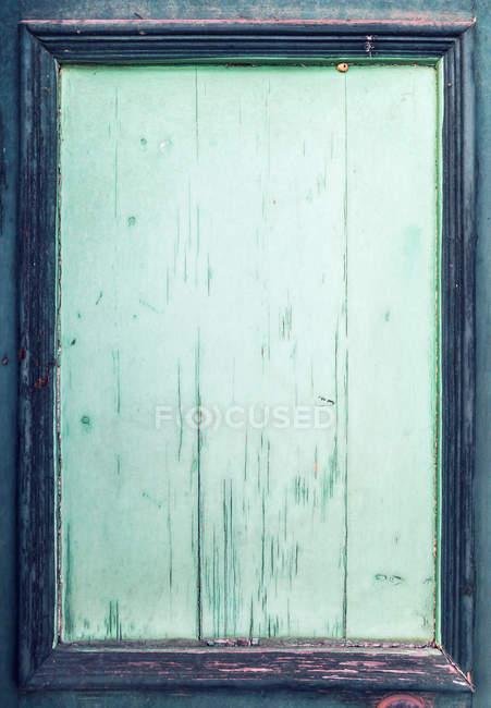 Vieille porte en bois verte, gros plan — Photo de stock