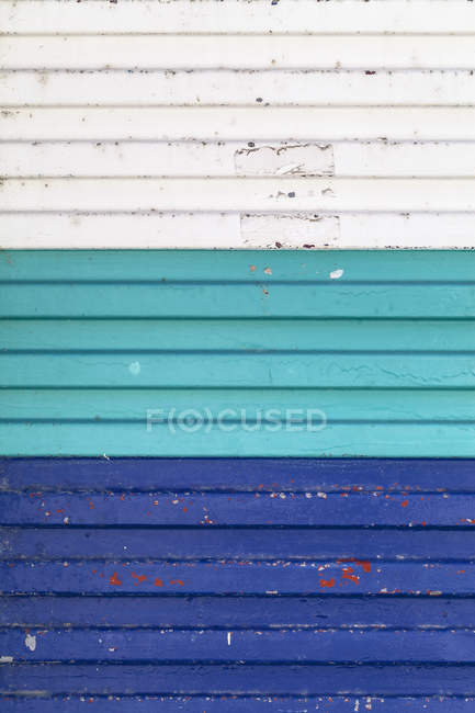 Colourful garage door, close up — Stock Photo