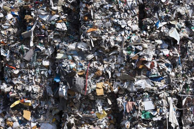 Vista de lixo comprimido, quadro completo — Fotografia de Stock