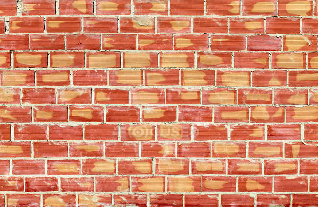 View of red Brick wall, close up — Stock Photo