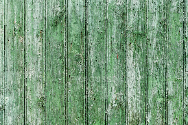 Close up view of green wooden facade — Stock Photo