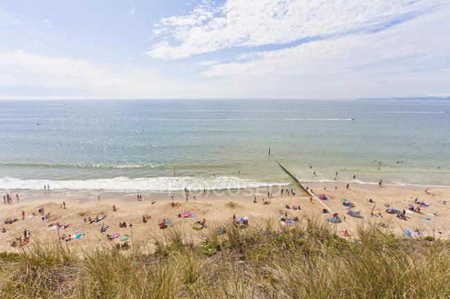Inglaterra, vista da praia de Bournemouth — Fotografia de Stock