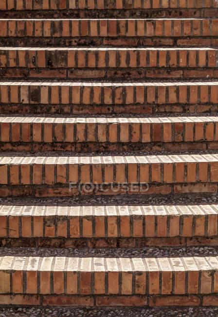 View of Brick stairs, close up — Stock Photo