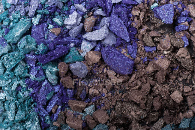 Pieces of eye shadow , close up — Stock Photo