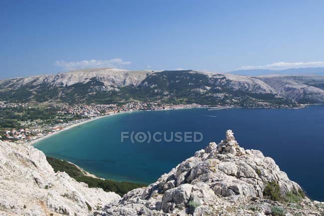 Mer Adriatique à l'île de Krk — Photo de stock