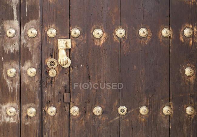View of Wooden door, close up — Stock Photo