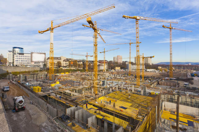 Germany, Baden Wuerttemberg, Stuttgart, Building under construction — Stock Photo