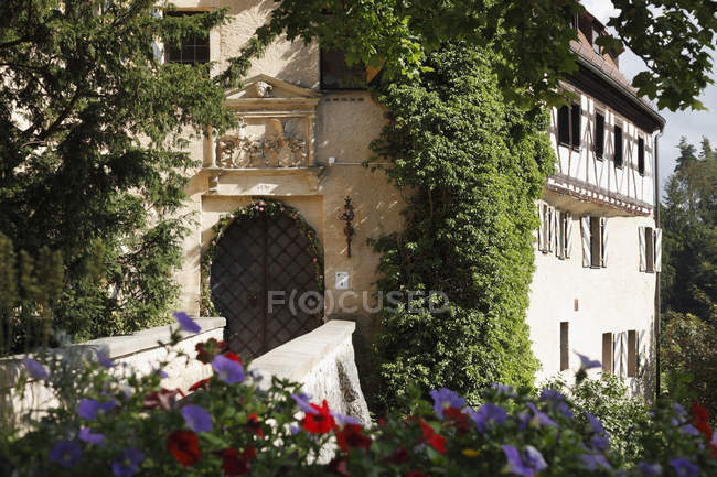 Baviera, Franconia, Alemania, Suiza, vista de Castillo Rabenstein - foto de stock