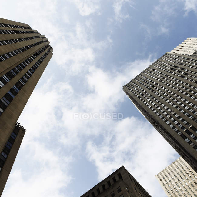USA, New York, View of high rise building against sky — Stock Photo