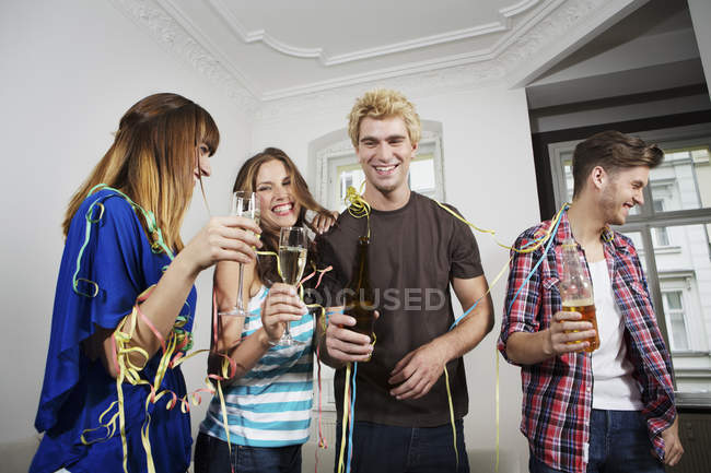 Young people celebrating together — Stock Photo