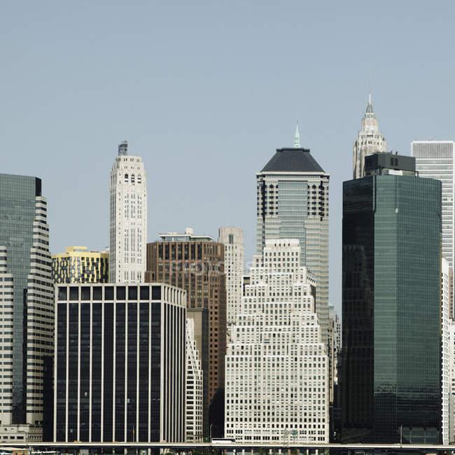 США, Нью-Йорк, перегляд висотних будівель денний час — стокове фото