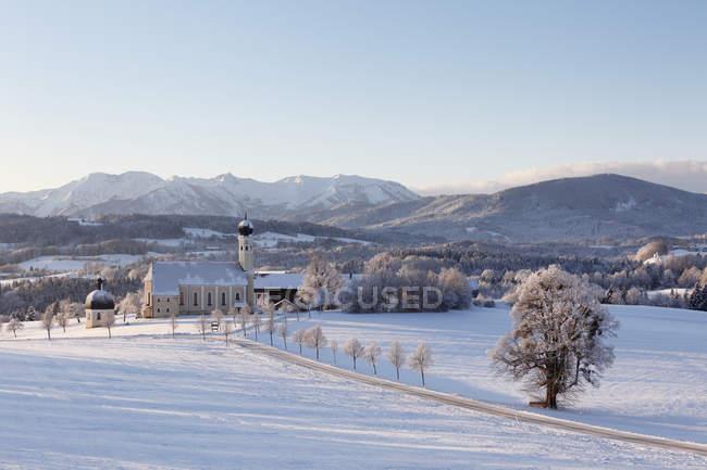 Германия, Бавария, Вид на паломническую церковь — стоковое фото