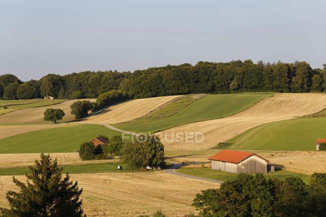 Alemanha, Baviera, Paisagem cultivada em Andechs — Fotografia de Stock