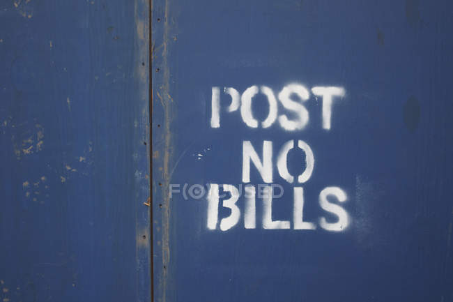 USA, New York, Close up of forbidden sign — Stock Photo