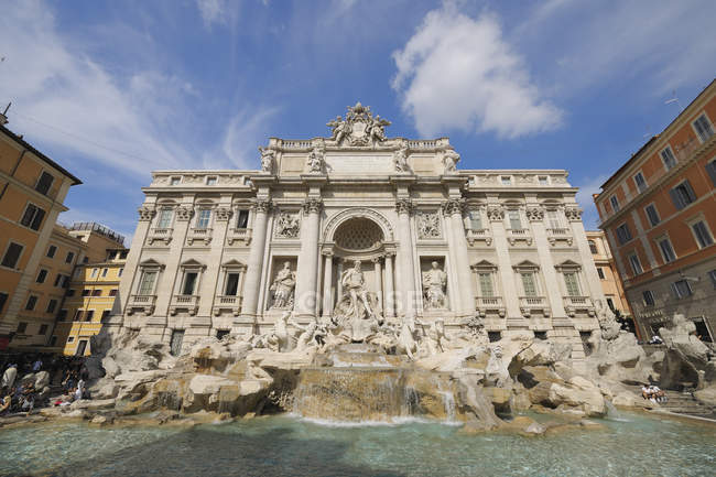 Europe, Italy, Rome, View of Trevi Fountain against sky — Stock Photo