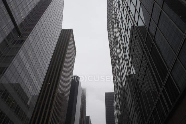 USA, New York, glass office buildings — Stock Photo